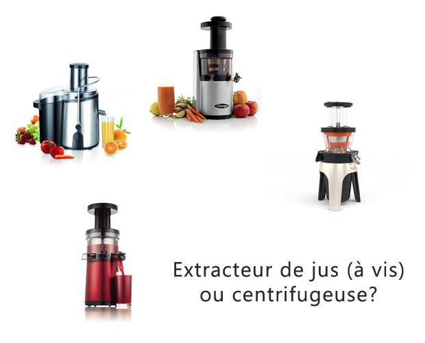 reconnaitre un extracteur de jus d 39 une centrifugeuse. Black Bedroom Furniture Sets. Home Design Ideas