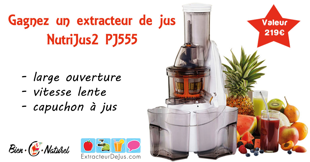 gagnez un extracteur de jus sim o nutrijus2 pj555 concours. Black Bedroom Furniture Sets. Home Design Ideas